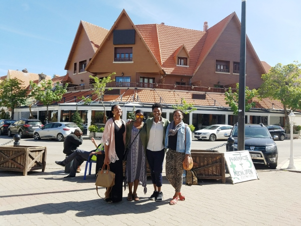 """The crew in """"The Switzerland of Morocco"""""""
