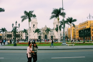 Plaza Mayor de Lima with view of Cathedral de Lima