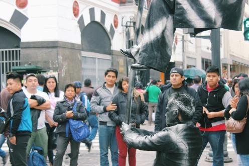 Strange street performers