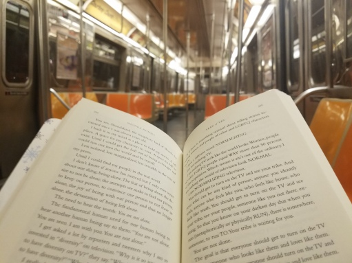 Passing the time on the NYC subway