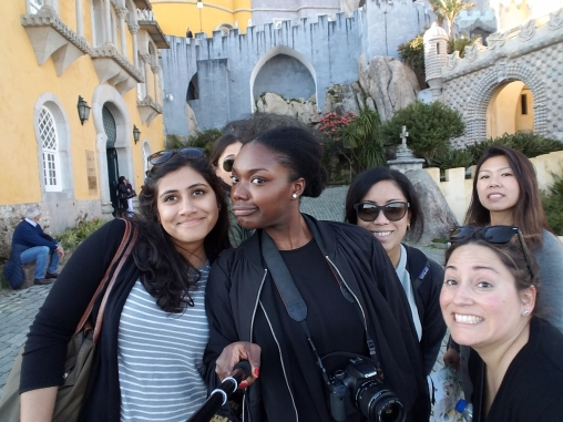 Coworkers and I on a trip to Lisbon, Portugal