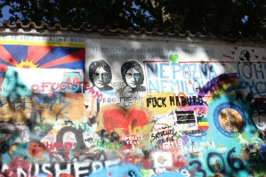 Lennon Wall. Processed with VSCO with preset