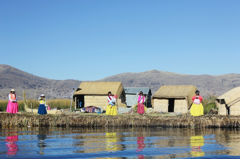 Uros Island on Lake Titicaca