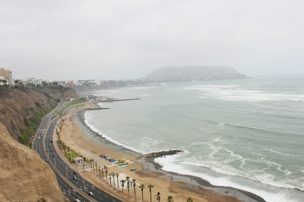 Coast of Lima from Larcomar Shopping Center