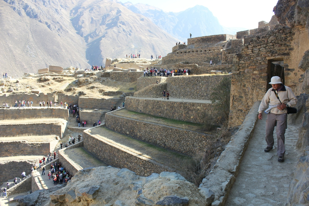 Inca ruins in Ollantaytambo