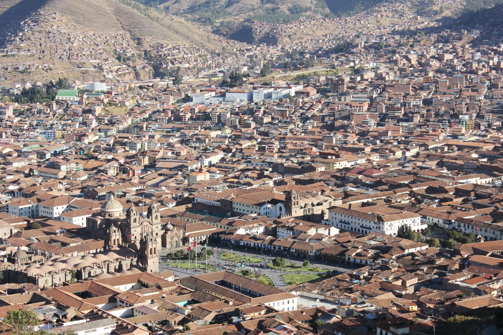 View of Cusco from Pukamuqu