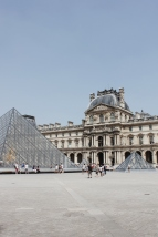 The Louvre and pyramids