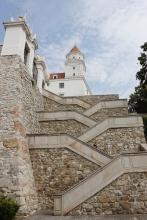 Bratislava Castle steps